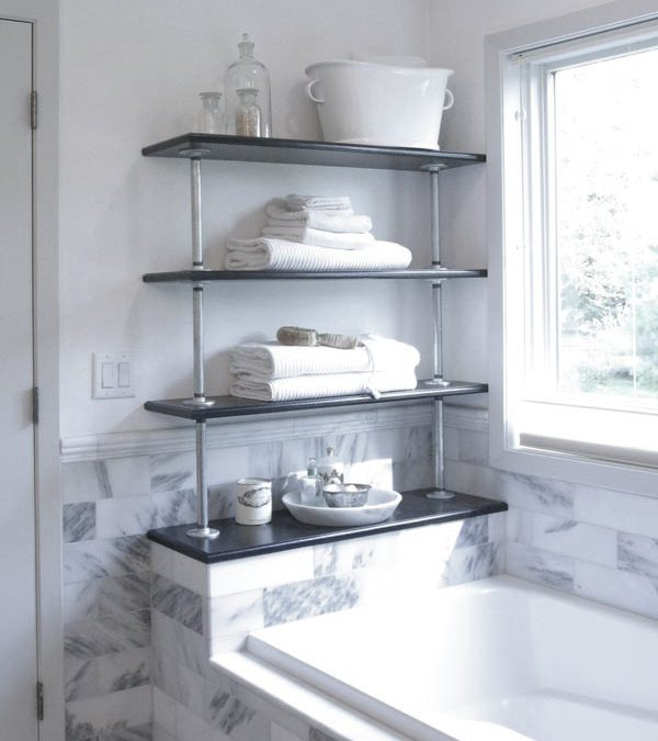 Industrial Chic Pipe Shelving for a Custom Fit