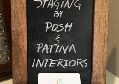 P&P Staging sign